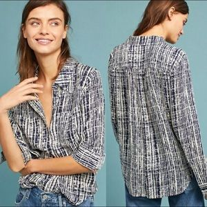 Anthropologie Holding Horses Sammie Button Blouse